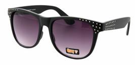 NEW Quay Eyeware Australia 1437 Matte Black Silver studs 100% UV Sunglasses