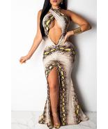 Sexy Snakeskin Pattern Printed  Floor Length Dress - $31.10