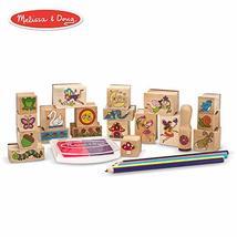 Melissa & Doug Stamp-a-Scene Wooden Stamp Set: Fairy Garden, 20 Wooden Stamps, 5 - $27.99