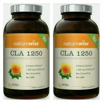 NatureWise 180 CLA 1250 High Potency Natural Weight Loss 360 SoftGels New - $19.50
