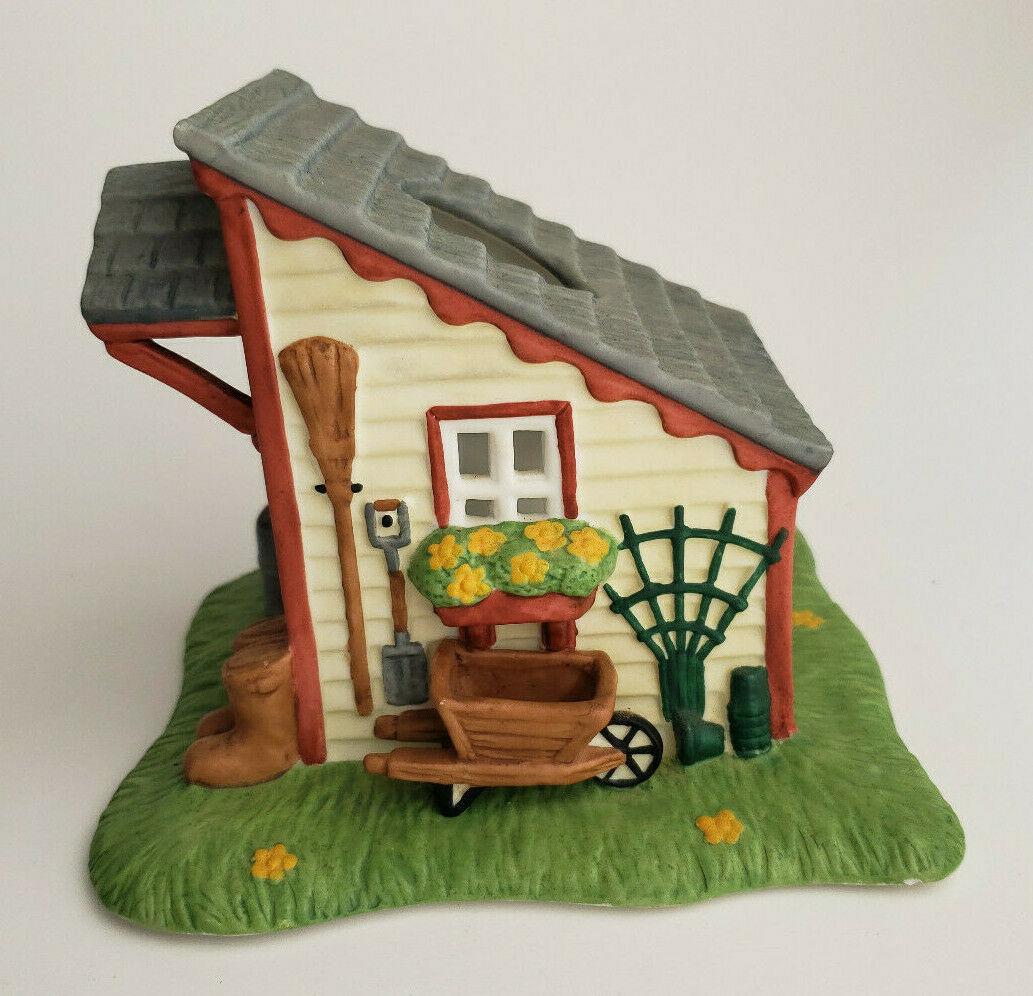 Garden House Tealight Candle Holder Shed Spring Village PartyLite P0700 Vtg