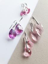 Pink Crystal Earrings, Pink Earrings, Brides Earrings, Bridesmaids Earrings,  - $16.00+