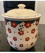 Vintage Disney Pfaltzgraff Mickey & Minnie Mouse Cookie Jar & Lid - $59.35