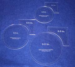 "6 Piece Set Quilt Templates 1/8"" Half Sizes- Acrylic - Circle within Squ... - $27.99"
