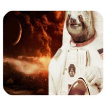 Mouse Pad Astronot Slothf Parody NASA Space Cloud Moon Galaxy Animation Fantasy - $9.00