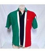 VTG Tommy Hilfiger Polo Shirt Colorblock Rugby Crest 90s Golf Lotus Ski ... - $49.99