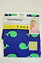"Itzy Ritzy Sealed Wet Bag 11"" x 14"" Blue Green Travel for Wet Diapers Sw... - $11.87"