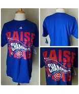 Majestic MLB Authentic Chicago Cubs 2016 National League Champions Tee T... - $14.03