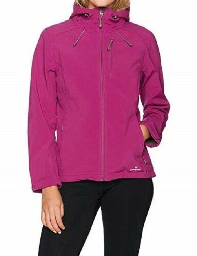 Large 12-14 Women's White Sierra New Moon Hooded Softshell Jacket Clover
