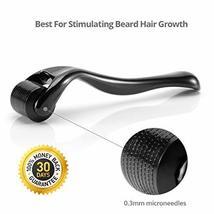 Beard Derma Roller for Men's Beard Growth + Beard Serum Oil + Beard Balm Wax + C image 2