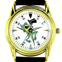 Michigan J Frog Fossil Warner Bros 24 Hour Pyramid Cut Crystal Unworn Wa... - $117.66