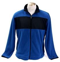 Nautica Blue & Black Zip Front Fleece Jacket Men's NWT image 2