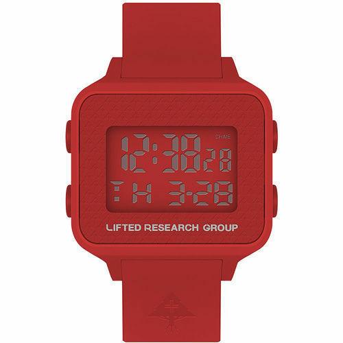 LRG Elevato Ricerca Gruppo Fuoco Rosso LCD Digitale Albero Nuovo Orologio IN Box