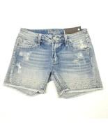 Miss Me Women's Mid Short Shorts Denim Jeans Lt Blue Size 27 $89.50 - $77.25