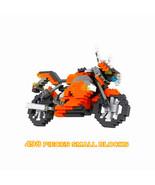 Particles Small Blocks Neon Orange Motorcycle 498 Pieces Blocks - $17.98