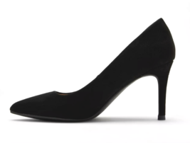 A New Day Women's Gemma Pointed Toe Heeled Pumps Black Wide NWT image 2