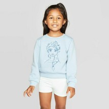 NWT Disney Toddler Girls' Frozen Elsa Fleece  Graphic Sweatshirt Light B... - $17.41