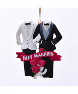 Same Sex Marriage-Christmas Ornament-Just Married Christmas Ornament-Hol... - $11.57