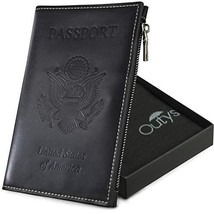 Passport Holder - Travel Luggage organizer RFID Blocking wallet Genuine ... - $21.87