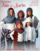 Jeanette Crews Designs Reversible Hats & Scarves Crochet 16032 Beret Pat... - $14.67