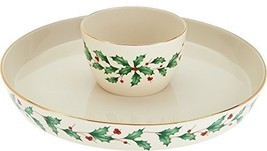 Lenox Holiday 4-in-1 Server - Bowl and Platter - £73.67 GBP