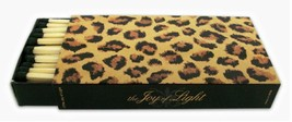 "The Joy of Light Designer Matches Leopard Print Embossed 4"" Matchbox Mat... - $6.99"