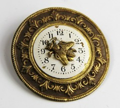 40s 50s Estate Vintage Jewelry Rare N API Er Bee On Time Clock Brooch - $125.00