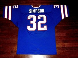 OJ SIMPSON HOF 85 BUFFALO BILLS SIGNED AUTO BILLS L/E FOOTBALL JERSEY JSA - $346.49