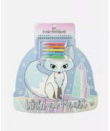 Justice WILD AT HEART Snow Fox Sketchbook New with Tags - $12.86