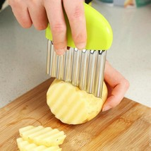 Wavy Cutter Vegetable French Fries Slicer Kitchen Tool Stainless Steel C... - €8,68 EUR