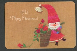Postcard Merry Christmas Santa Hallmark 175PX 51-4 - $7.50