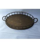 Oval Brass Faux Bamboo Dresser Vanity Tray - Mid Century Modern Brass Ac... - $250.00
