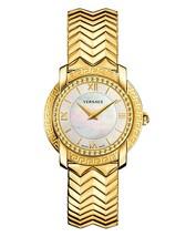 Versace VAM040016 DV-25 Round Lady Gold Steel MOP Ladies Watch - $2,577.84