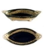 Ira Burhans USA Stoneware Handled Dish Bowl Signed - $52.00
