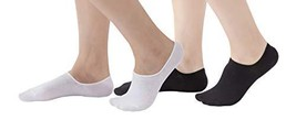 6 Pair Solid Cotton No Show Liner Socks For Women-asstM - £13.69 GBP