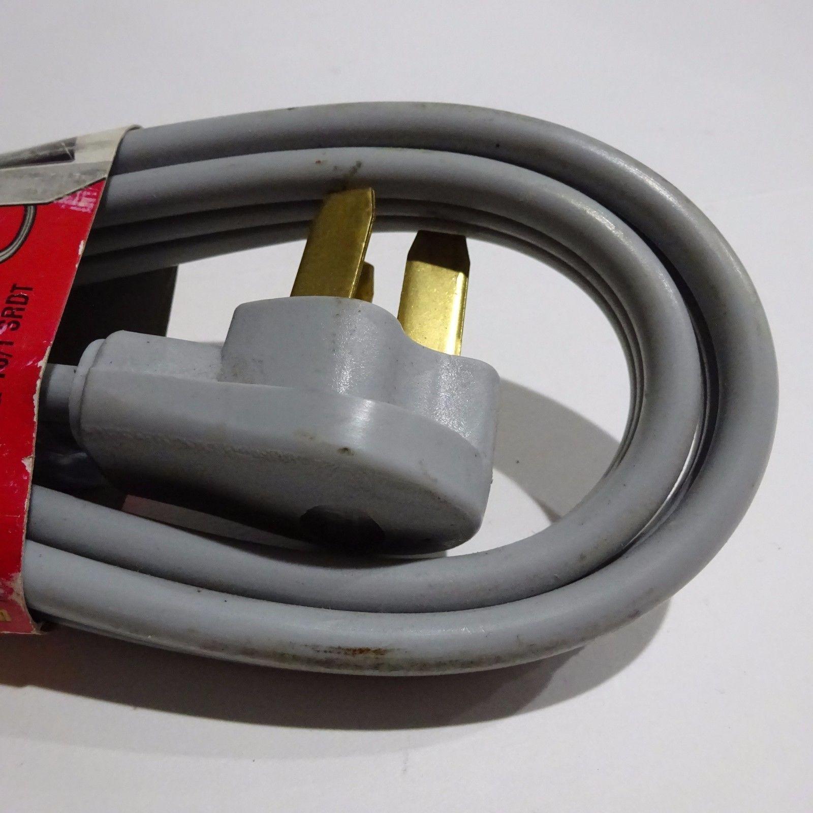 6ft 8/2 & 10/1 Gauge 40 Amp SRDT Type 3 Prime Wire Range Extension Cord Gray