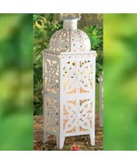 "Extra Large 21.5"" Tall Lantern White Candle Holder Wedding Centerpieces - $29.65"