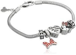 "Disney Girls' ""Minnie Mouse"" Stainless Steel Bead Bundle Charm Bracelet - $69.99"