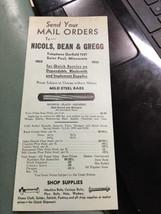 1930s Nicols Dean Gregg Metal Wheel Skein Neckyoke Parts Pamphlet - $29.99