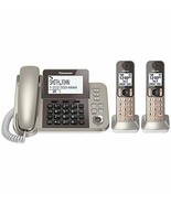 PANASONIC Corded / Cordless Phone System with Answering Machine and One ... - $139.03