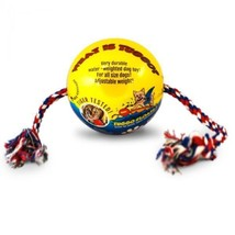 "TUGGO Dog Toy Water Weighted Ball Tugg-O-War Small 4""  Rope Durable Colors - $17.49"