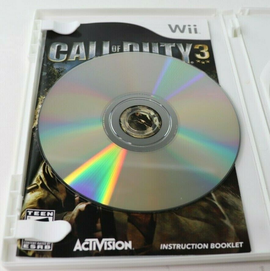 Call of Duty 3 (Nintendo Wii, 2006) CoD Complete EUC Tested image 4