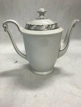 Vintage Franconia Krautheim Selb Bavaria coffee pot Palladina silver det... - $181.16