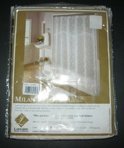 Shower Curtain Home Fashions By Lorraine Ivory Damask Simulated Valance New - $18.66