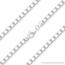 4mm Classic Box Link Italian Chain Bracelet in Solid .925 Italy Sterling Silver - $34.44