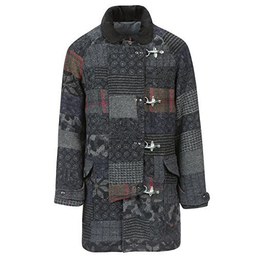 Monitaly Men's Fireman Coat M16005 (38 (M), Patchwork)
