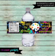 Painting Paint Splatters Art Palette Birthday Party Favors Favor Water B... - $3.50
