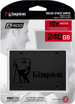 """Kingston 240GB A400 SATA 3 2.5"""" Internal SSD SA400S37/240G - HDD Replacement for - $46.52"""
