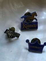 Vintage Lot of 3 Blue Black Plastic Kentucky w Horse MISSIISSIPPI Cincin... - $12.19