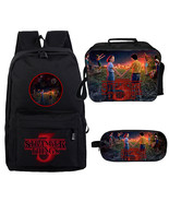 WM Stranger Things Season 3 Backpack Lunch Box Pencil Case Black A - $43.99